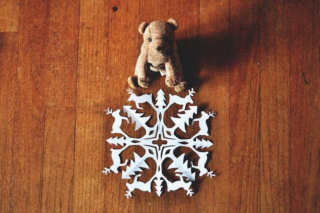 Reindeer Cut Out Pattern Fresh Zauberbear Reindeer Snowflake Pattern