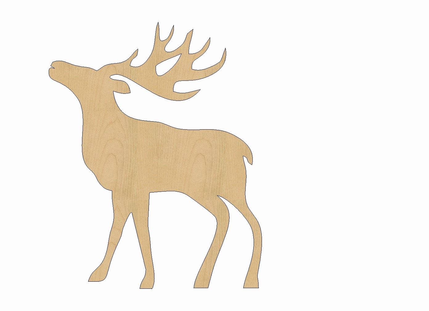 Reindeer Cut Out Pattern Lovely Reindeer Cutout Shape Laser Cut Unfinished Wood Shapes Craft
