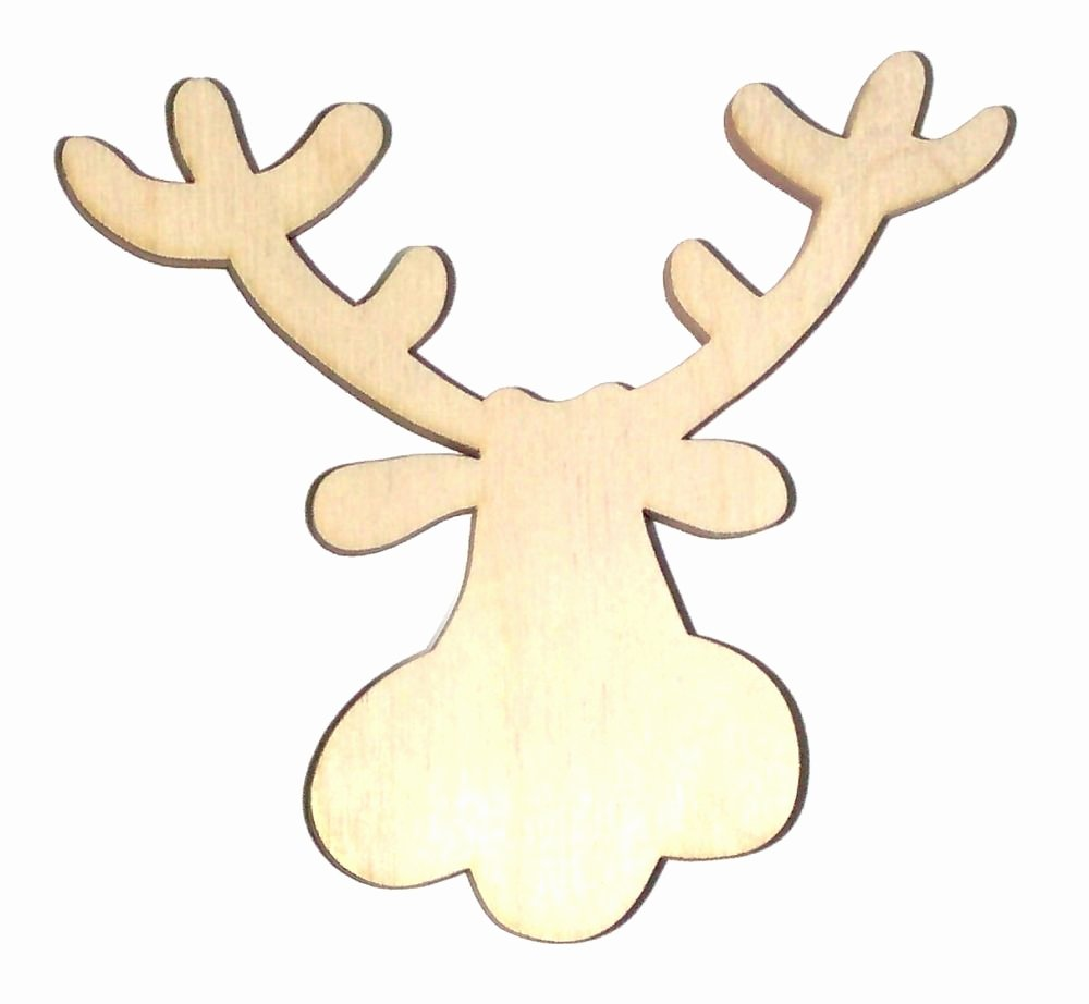 Reindeer Cut Out Pattern Luxury Rodney Reindeer Unfinished Flat Wood Shapes Cut Outs