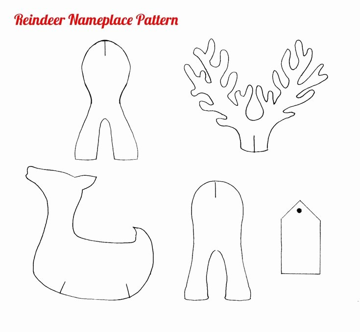 Reindeer Cut Out Pattern New Printable Christmas Crafts Free