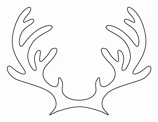 Reindeer Cut Out Pattern New Printable Reindeer Antlers Pattern Use the Pattern for