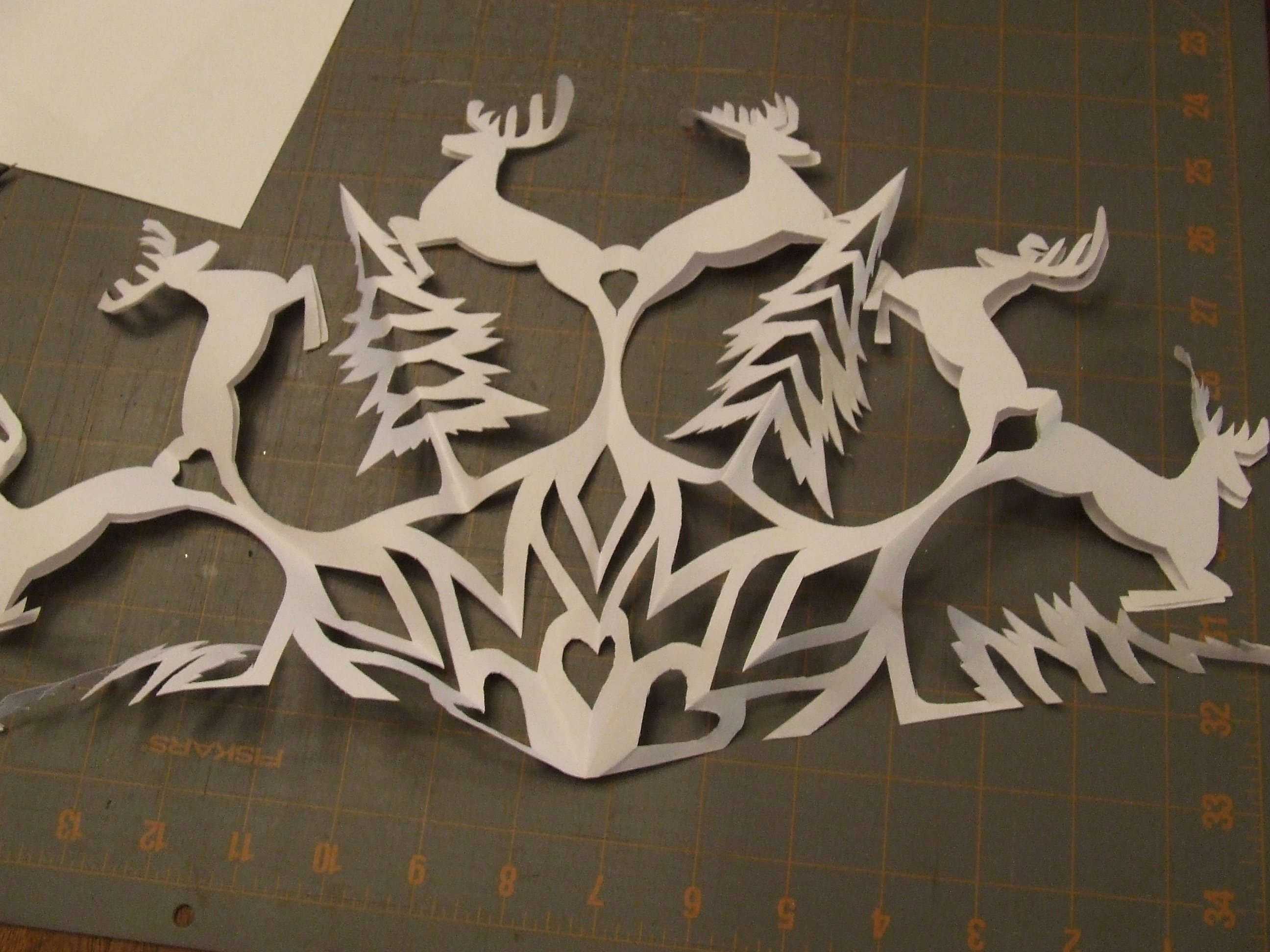 Reindeer Cut Out Template Awesome Cutting Snowflakes