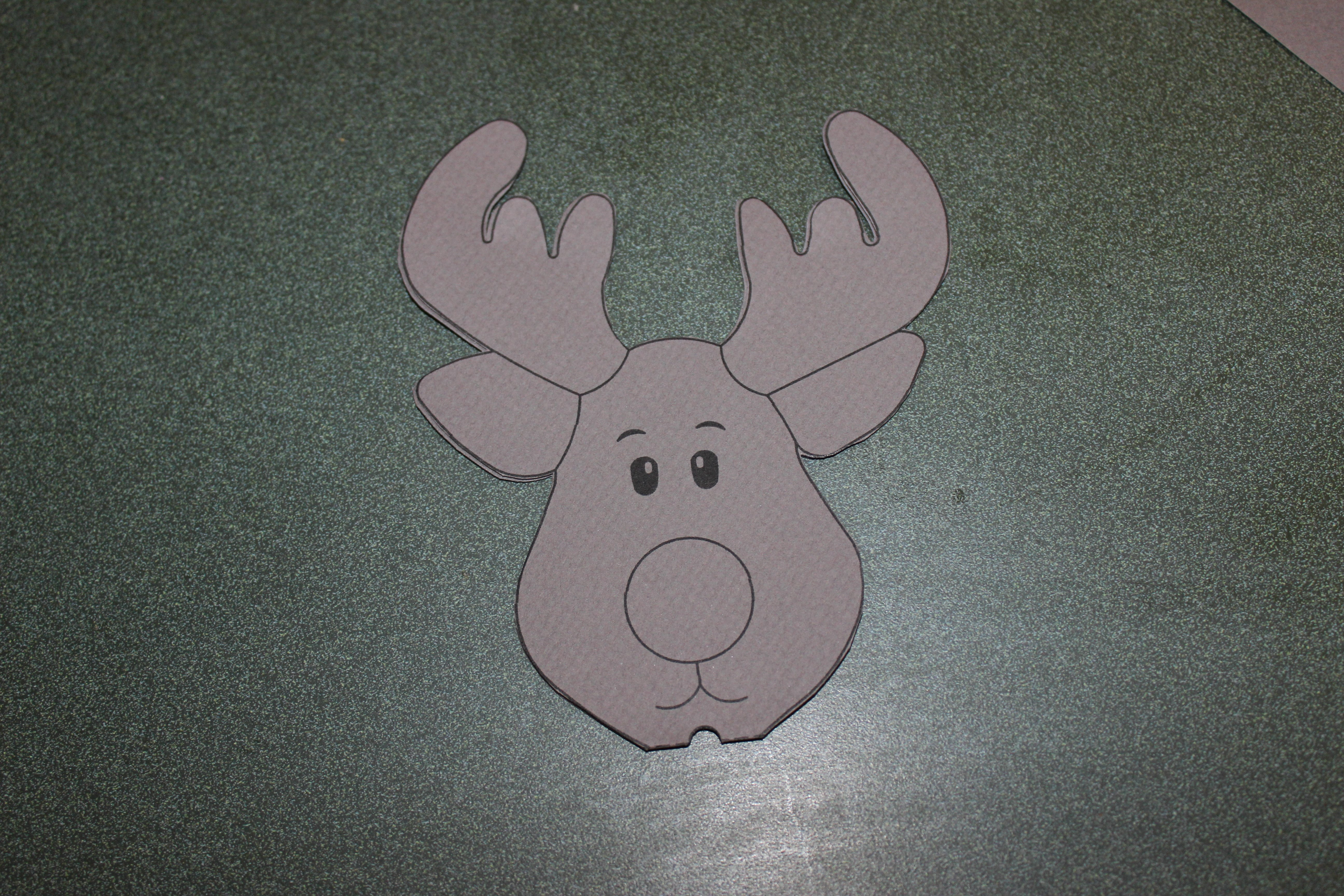 Reindeer Cut Out Template Awesome Reindeer Lollipop Card Tutorial