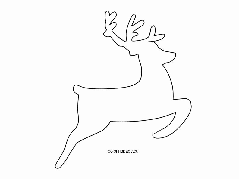 Reindeer Cut Out Template Beautiful Flying Reindeer Template – Coloring Page