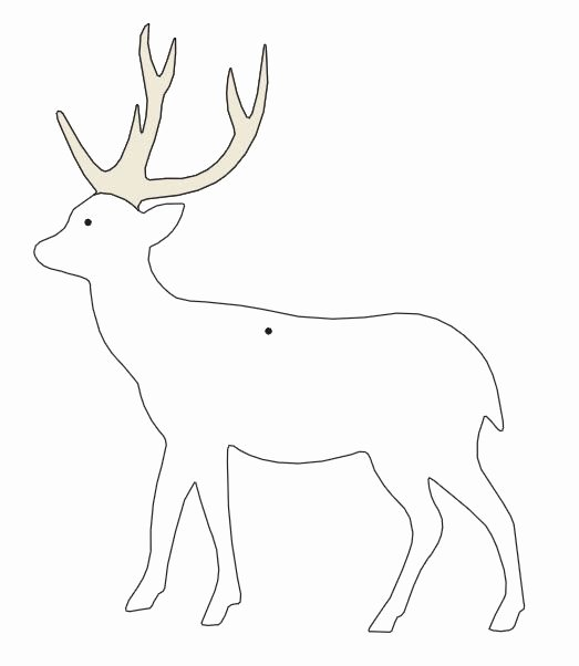 Reindeer Cut Out Template Elegant Reindeer Template Inspirations