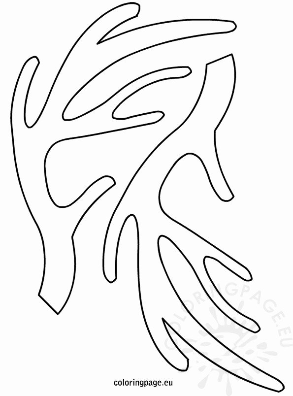 Reindeer Cut Out Template Fresh Reindeer Antlers Template – Coloring Page