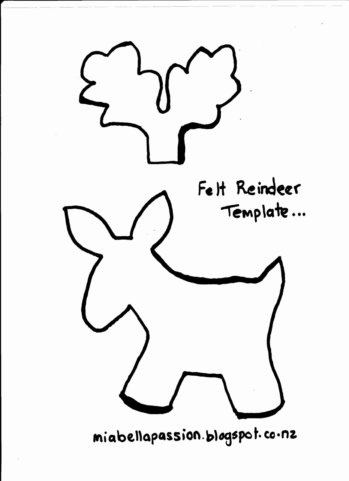 Reindeer Cut Out Template Inspirational Felt Reindeer Christmas Decorations