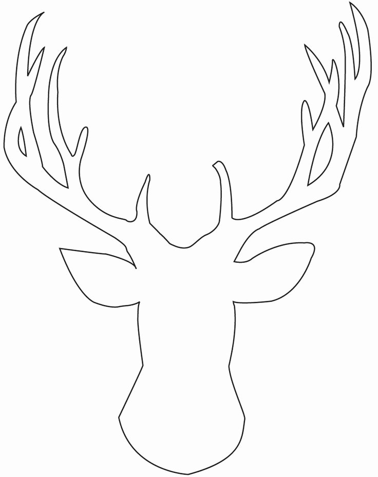 Reindeer Cut Out Template Lovely Deer Head Stencil Cliparts
