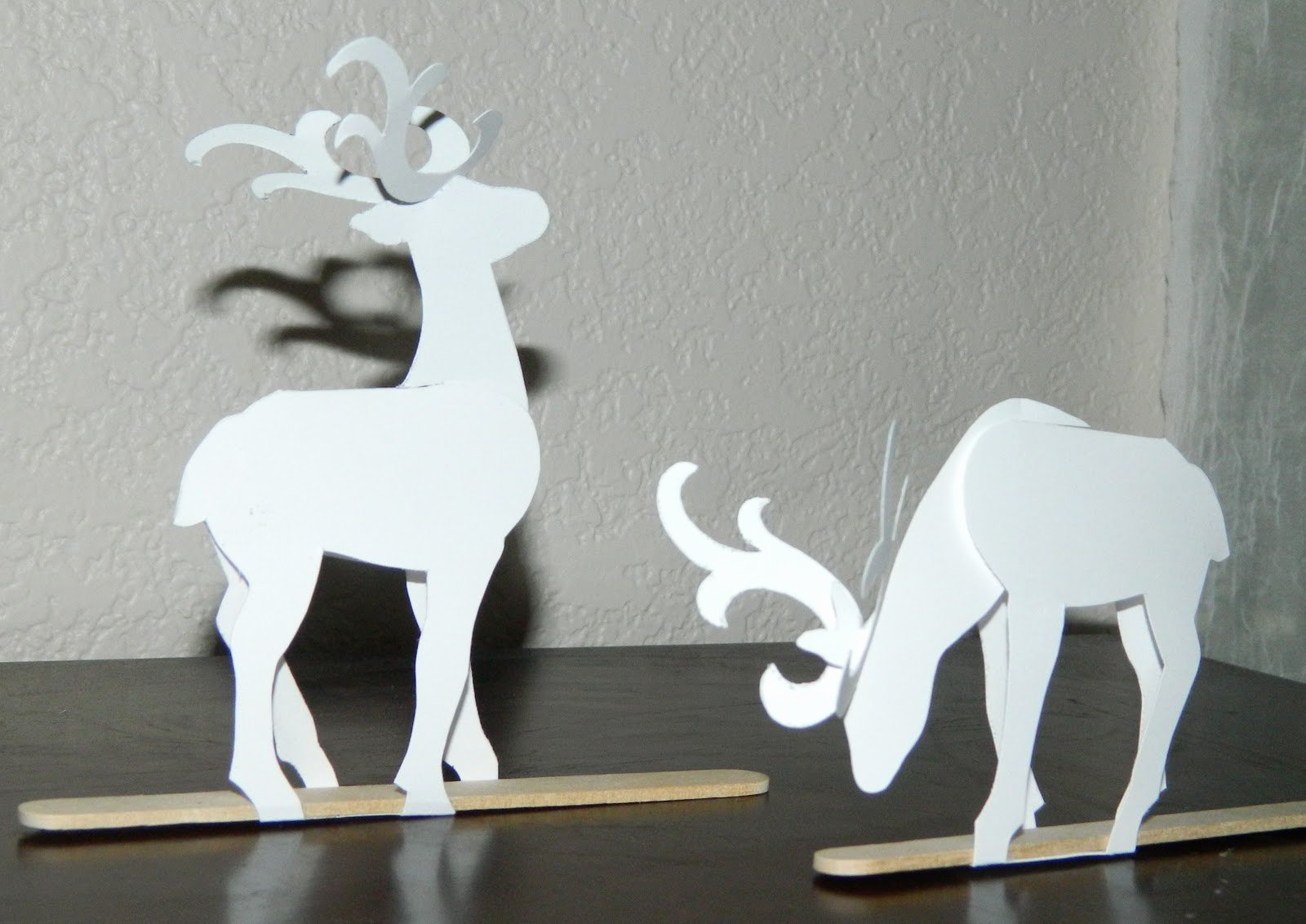 Reindeer Template Cut Out Awesome Laura S Frayed Knot Paper Reindeer