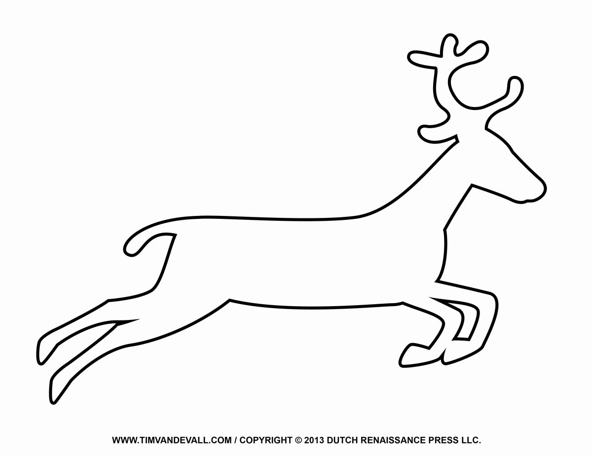 Reindeer Template Cut Out Awesome Santa Sleigh Reindeer Silouette Coloring Page Google