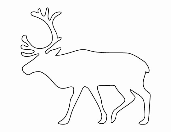 Reindeer Template Cut Out Unique Reindeer Pattern Use the Printable Outline for Crafts