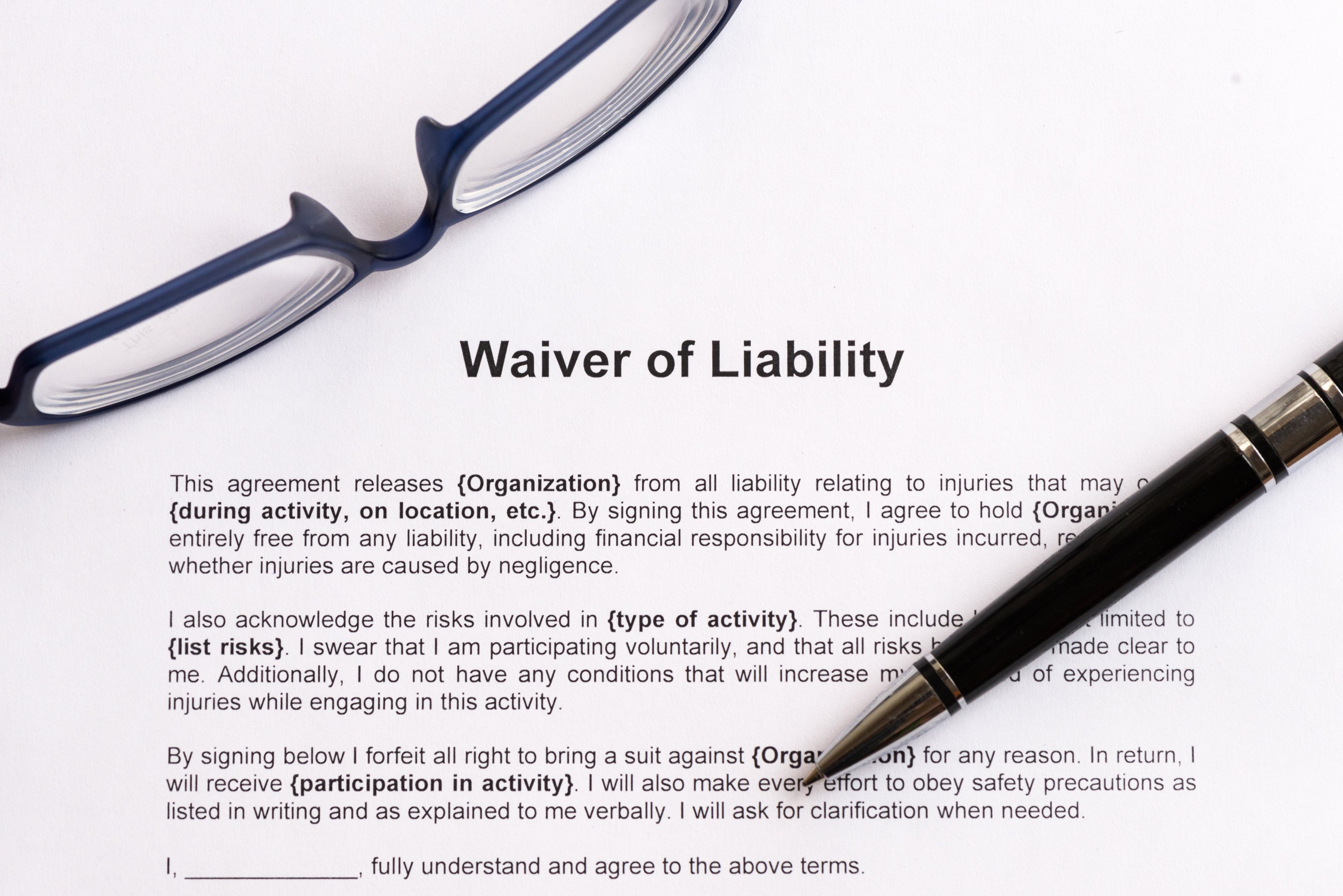 Release Of Liability Example Beautiful Liability Waiver