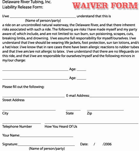 Release Of Liability Example Fresh Free Printable Liability Release Waiver form form Generic