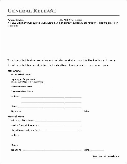 Release Of Responsibility Letter Best Of Free Basic Release form organization to attorney In Fact