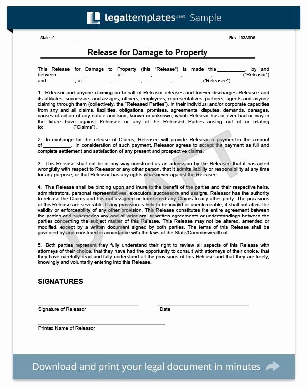 Release Of Responsibility Letter Elegant Free Release Of Liability form