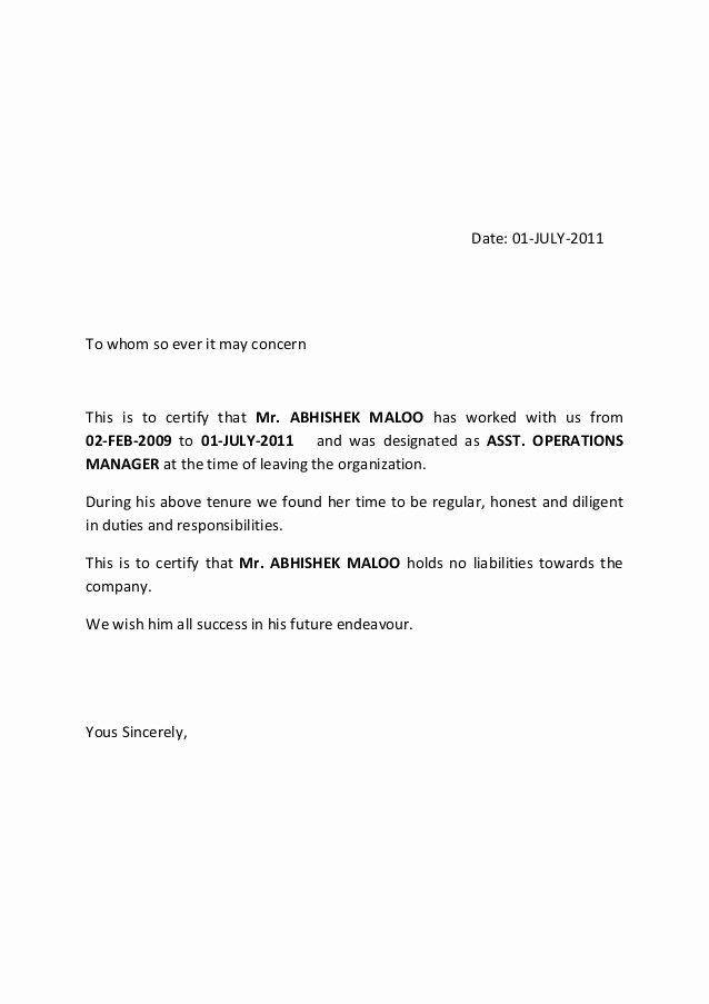 Release Of Responsibility Letter Fresh Release Letter