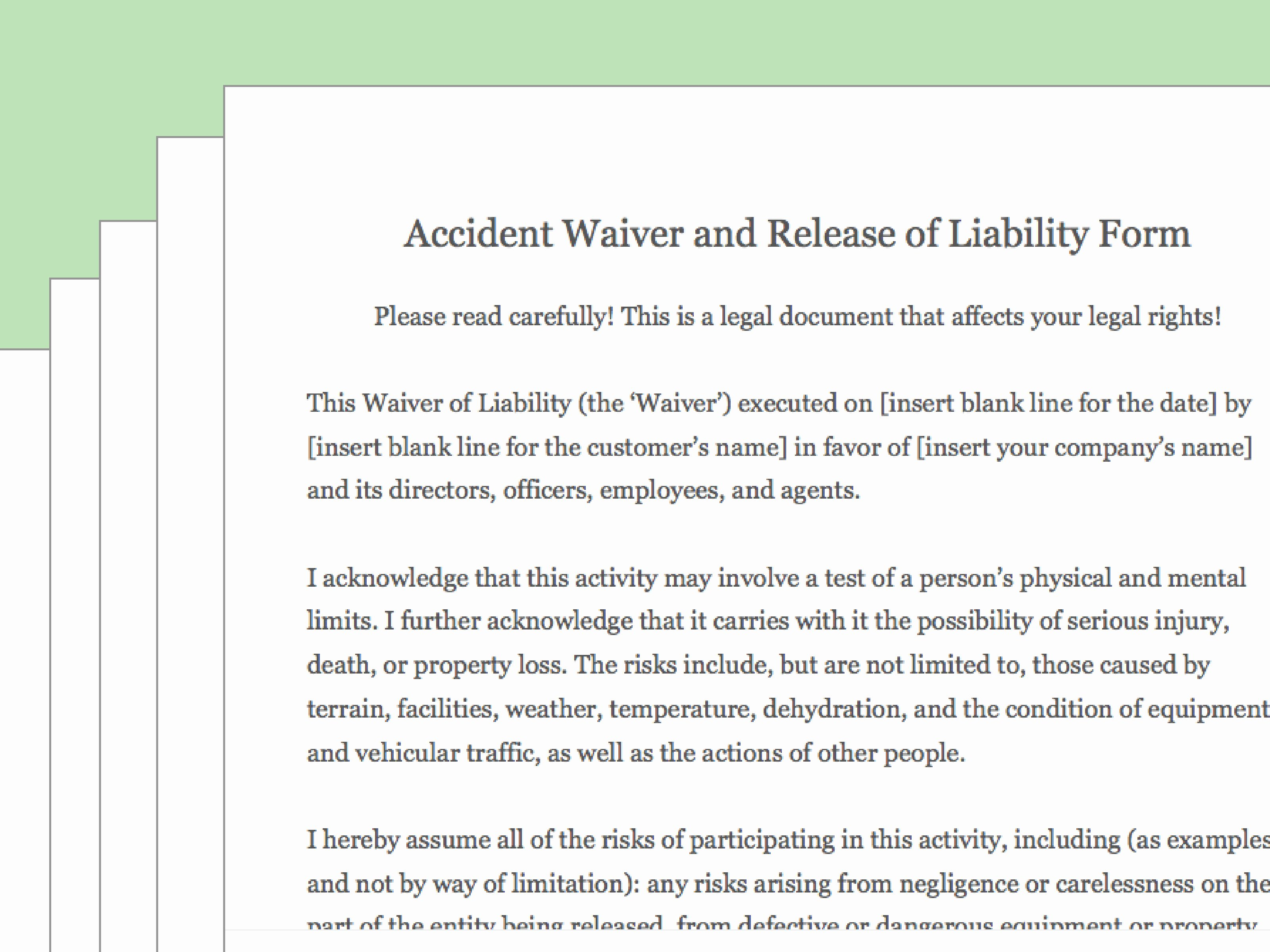 Release Of Responsibility Letter Inspirational How to Draft A Waiver Of Liability with Wikihow