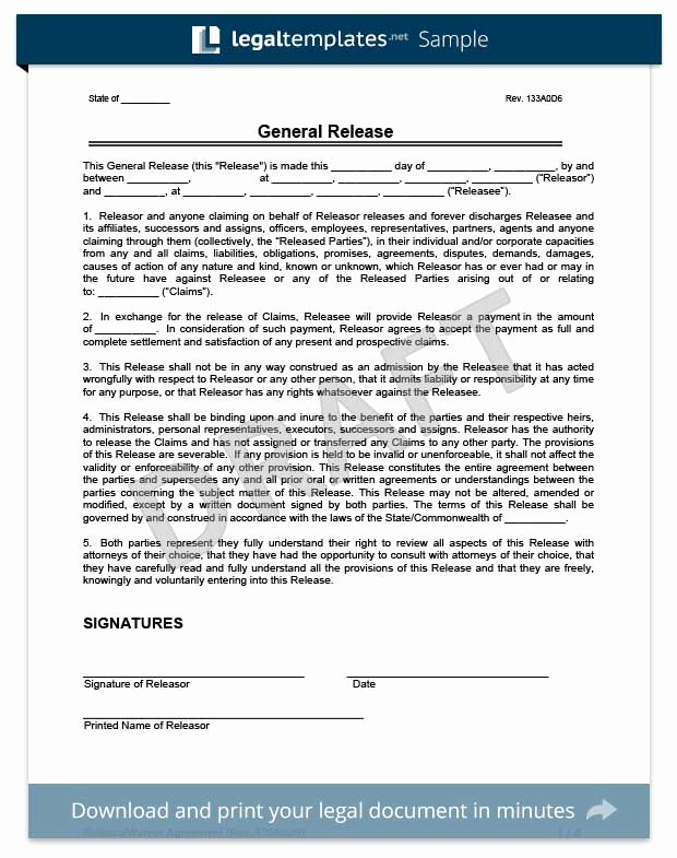 Release Of Responsibility Waiver Awesome Free Release Of Liability form