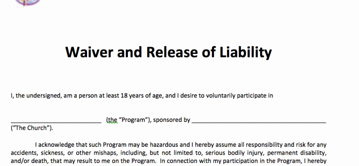 waiver and release of liability adult