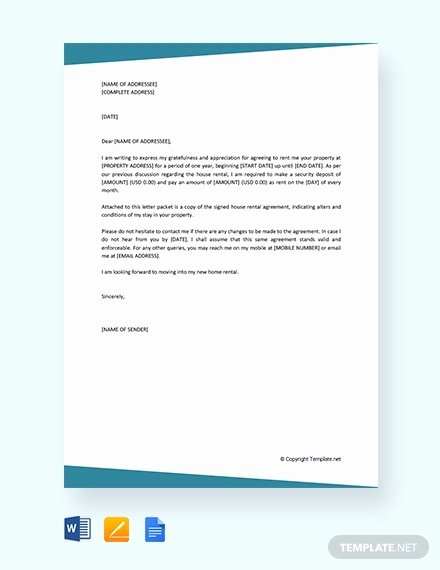 Rent Free Letter Template Best Of 16 Rental Agreement Letter Templates Word Apple Pages
