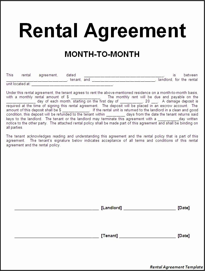 Rent Free Letter Template Fresh Printable Sample Rental Lease Agreement Templates Free