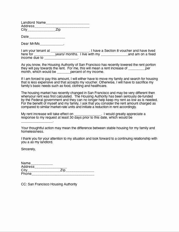 Rent Increase form Beautiful 30 Day Notice to Landlord