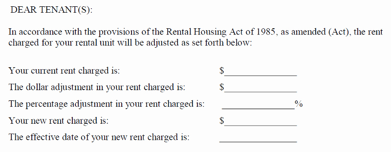 Rent Increase Letter Fresh A Letter to the Editor Dc S Fice Of the Tenant Advocate