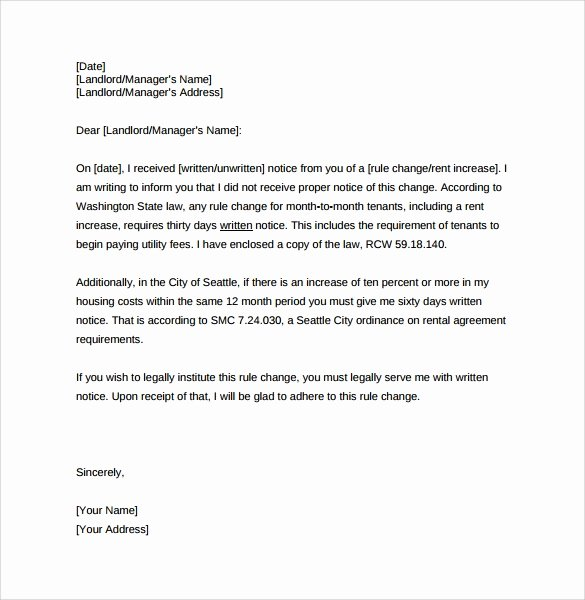 Rent Increase Letter Sample Awesome 9 Sample Rent Increase Letter Templates Pdf Word