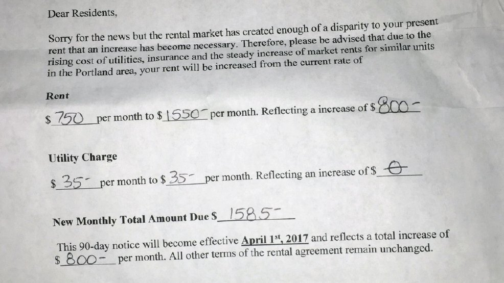 Rent Increase Notice Best Of Ww Steep Rent Increase May force 40 Ne Portland