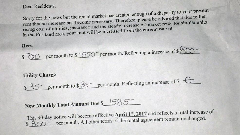 Rent Increase Notice Best Of Ww Steep Rent Increase May force 40 Ne Portland