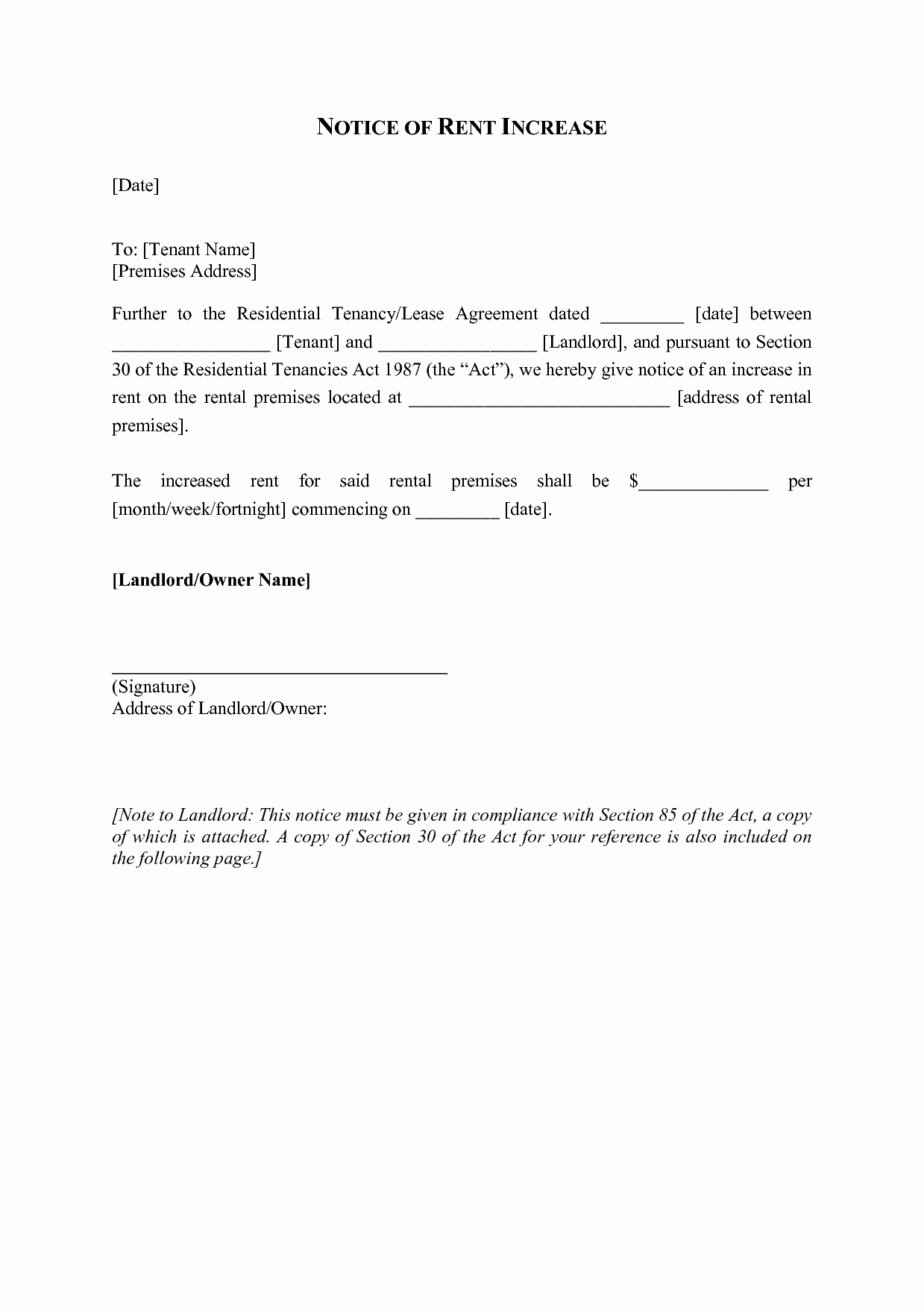 Rent Increase Notice Unique Best S Of Sample Letters to Raise Rent Rent