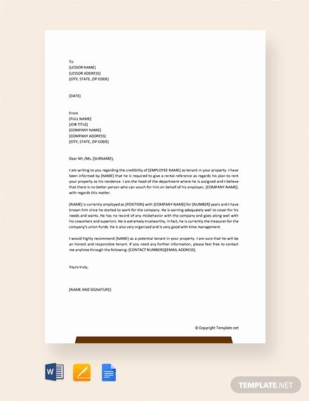 Rent Reference Letter Sample Fresh Pin On Muff