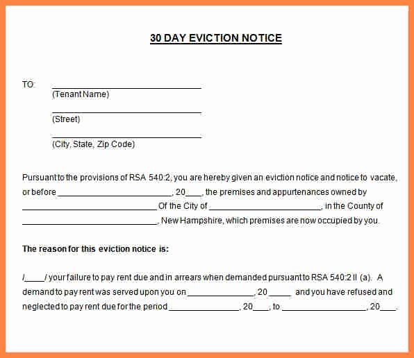 Rental 30 Day Notice Template New 8 Rental 30 Day Notice Letter