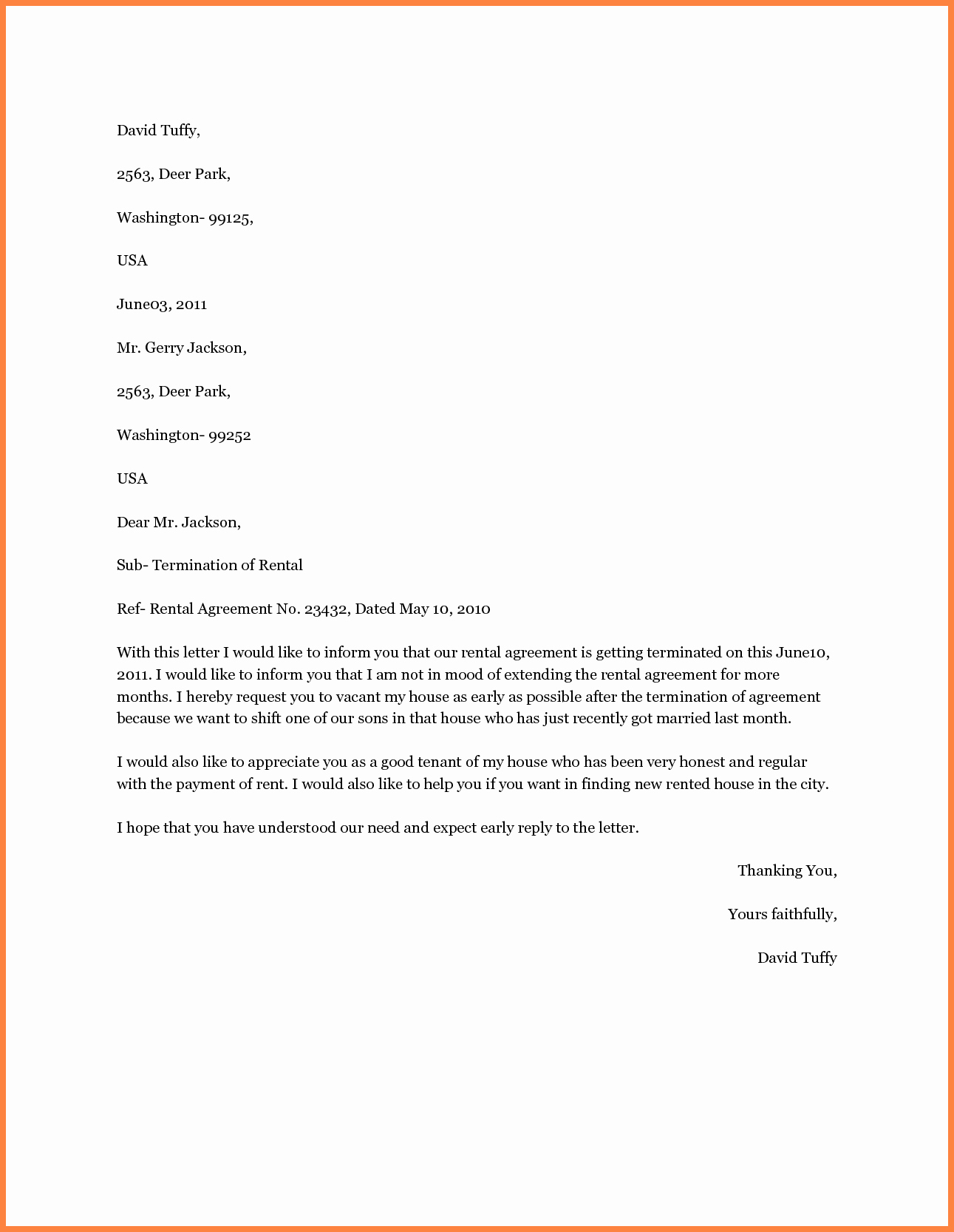 Rental Agreement Termination Letter Beautiful 3 Letter Of Cancellation Of Lease Agreement
