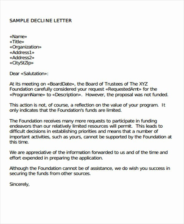 Request for Proposal Rejection Letter Awesome 44 Business Proposal Letter Examples