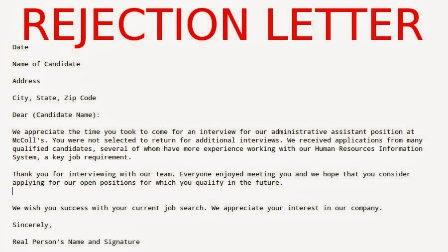 Request for Proposal Rejection Letter Awesome May 2015 Samples Business Letters