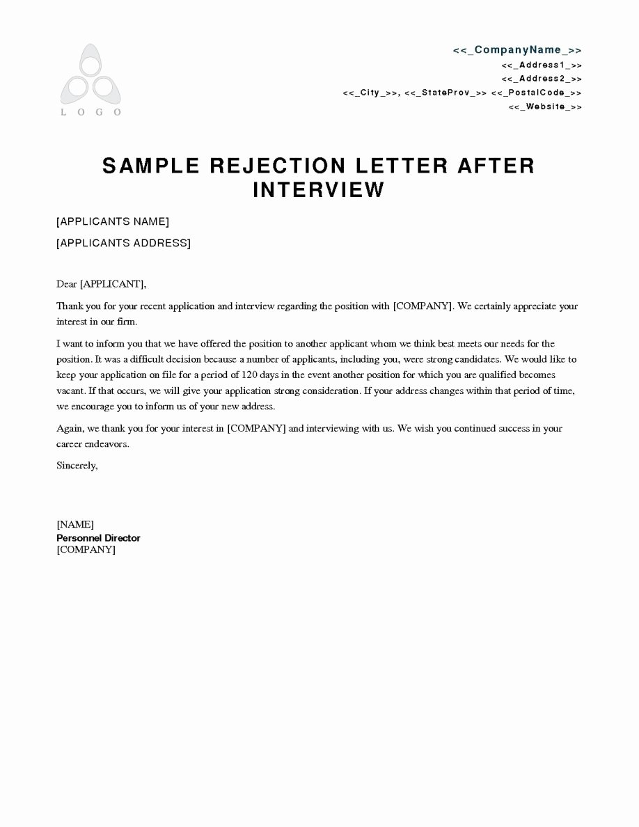 Request for Proposal Rejection Letter Fresh Proposal Rejection Letter format Marriage Grant Vendor