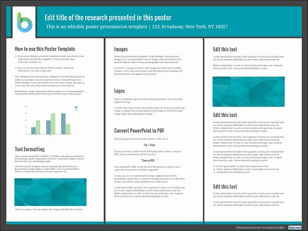 Research Poster Templates Free Beautiful 7 Awesome Powerpoint Poster Templates