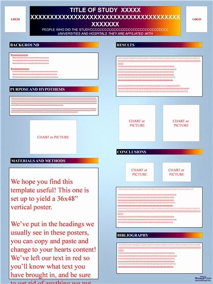 Research Poster Templates Free Inspirational Research Poster Templates