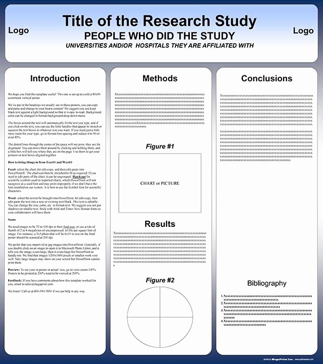 Research Poster Templates Free Lovely Poster Presentation Template 30x40