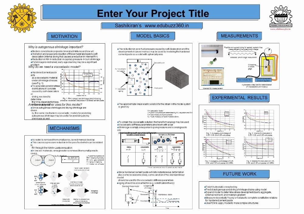 Research Project Poster Template Elegant Professional A3 Templates for Project Poster Presentation