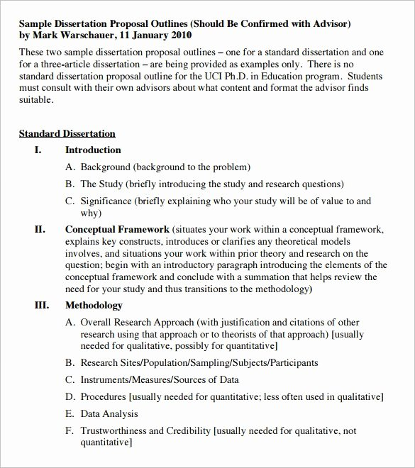 Research Proposal Outline Example Awesome Dissertation Proposal Outline Invent Media