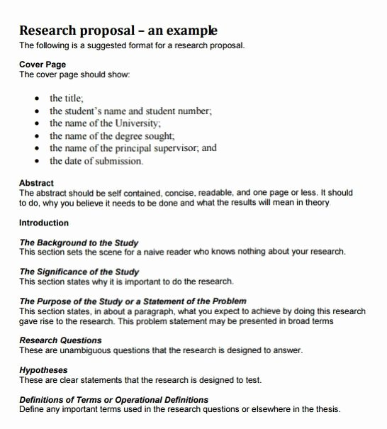 Research Proposal Outline Example Fresh How to Write A Research Proposal with Examples at Kingessays©