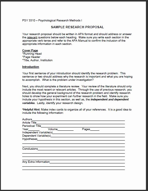 Research Proposal Outline Example Inspirational Research Proposal Example and Its Importance