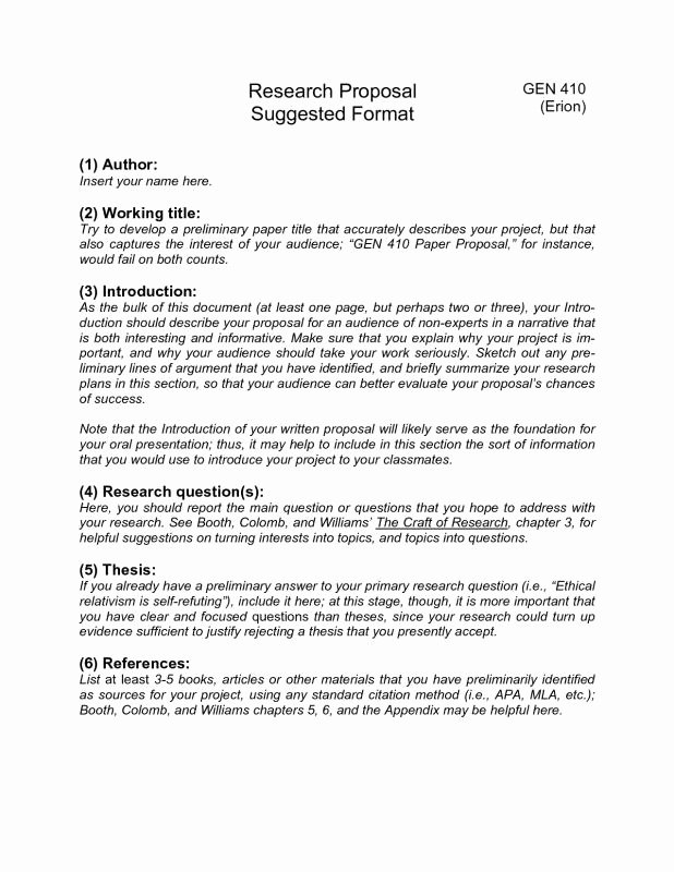 Research Proposal Outline Example Lovely Research Paper Proposal Template