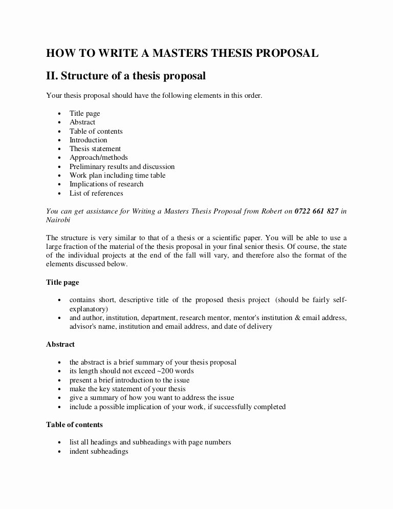 Research Proposal Outline Example New How to Write A Kenya Master S thesis Proposal Outline