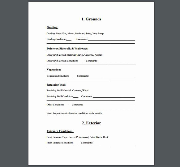 Residential Electrical Inspection Checklist Template Beautiful Home Inspection Checklist A Free Printable Checklist for