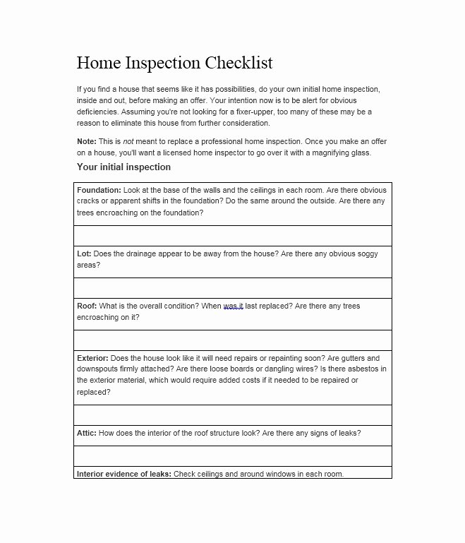 Residential Electrical Inspection Checklist Template Fresh Professional Home Inspection Checklist – Business form