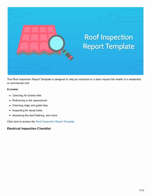 Residential Electrical Inspection Checklist Template Unique 12 Inspection Checklists to Maximize Safety In the Workplace