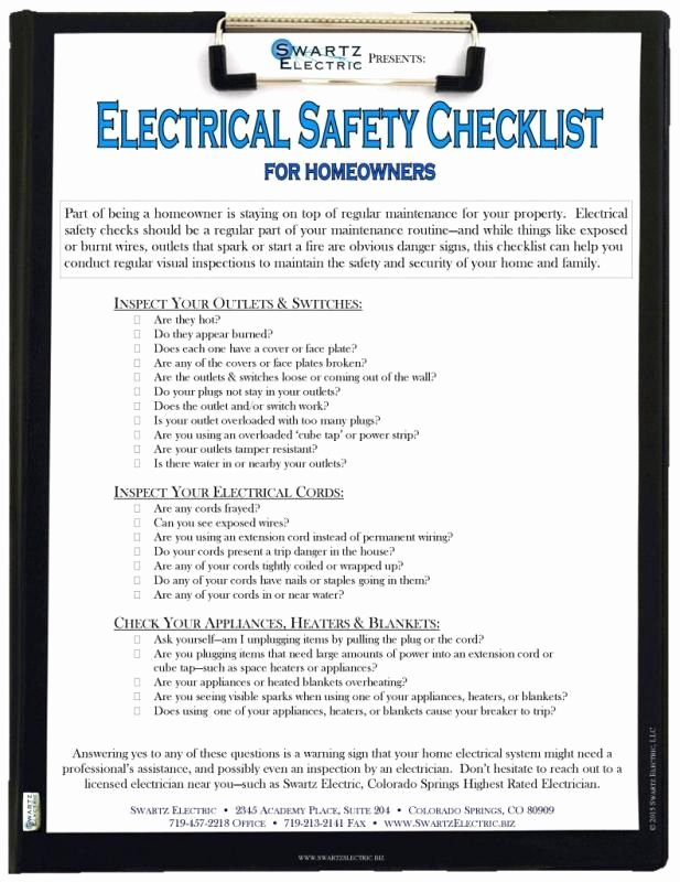 Residential Electrical Inspection Checklist Template Unique Electrical Inspection Checklist